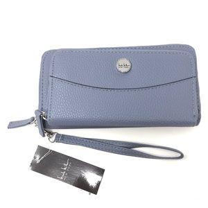 Nicole Miller Morgan Wallet Blue Wristlet NWT $45